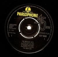 THE BEATLES The Beatles' Hits EP Vinyl Record 7 Inch Parlophone.